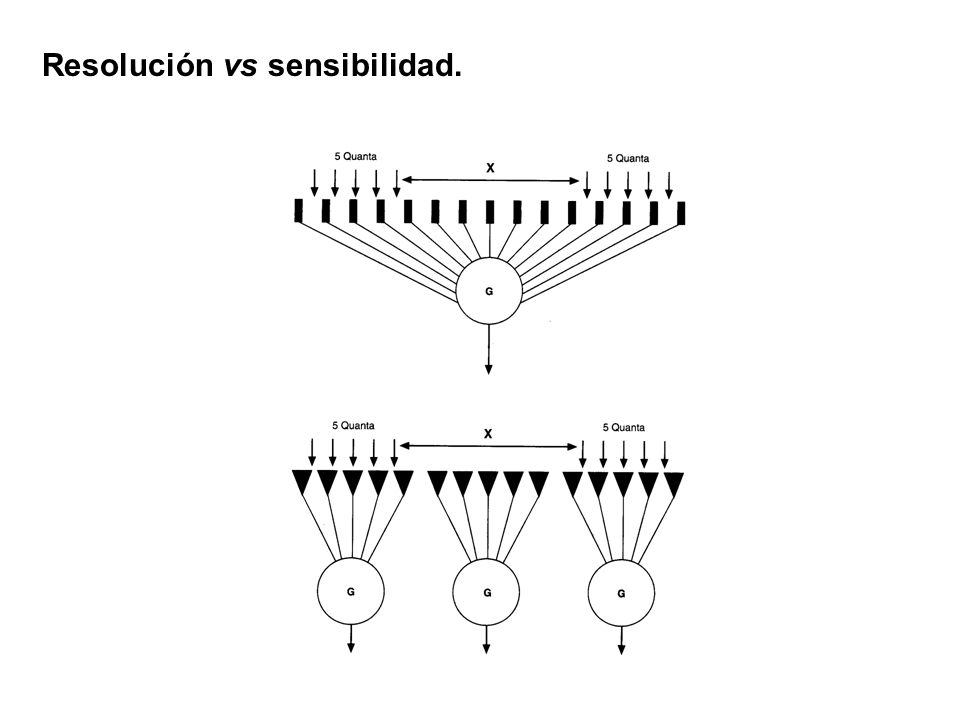 Resolución vs sensibilidad.
