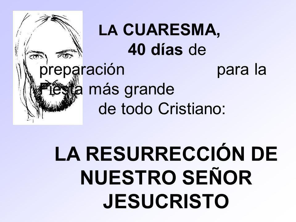 LA RESURRECCIÓN DE NUESTRO SEÑOR JESUCRISTO