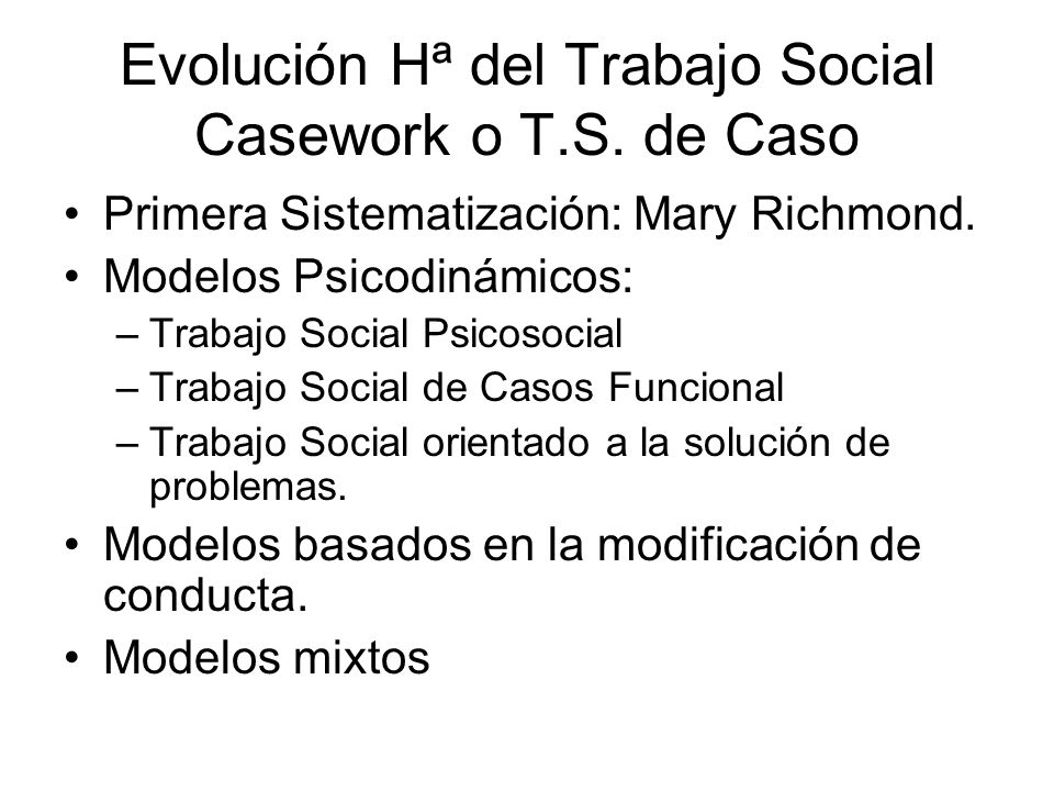 Evoluci n del trabajo social ppt descargar - Casos practicos trabajo social ...
