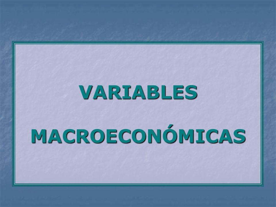 VARIABLES MACROECONÓMICAS