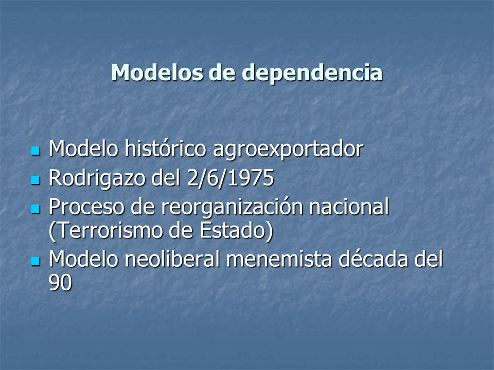 Modelos de dependencia