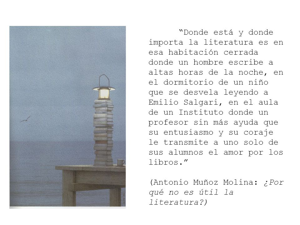 (Antonio Muñoz Molina: ¿Por qué no es útil la literatura )