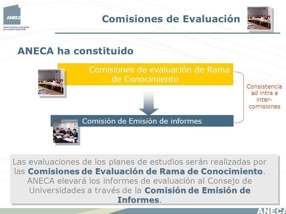Comisiones de Evaluación