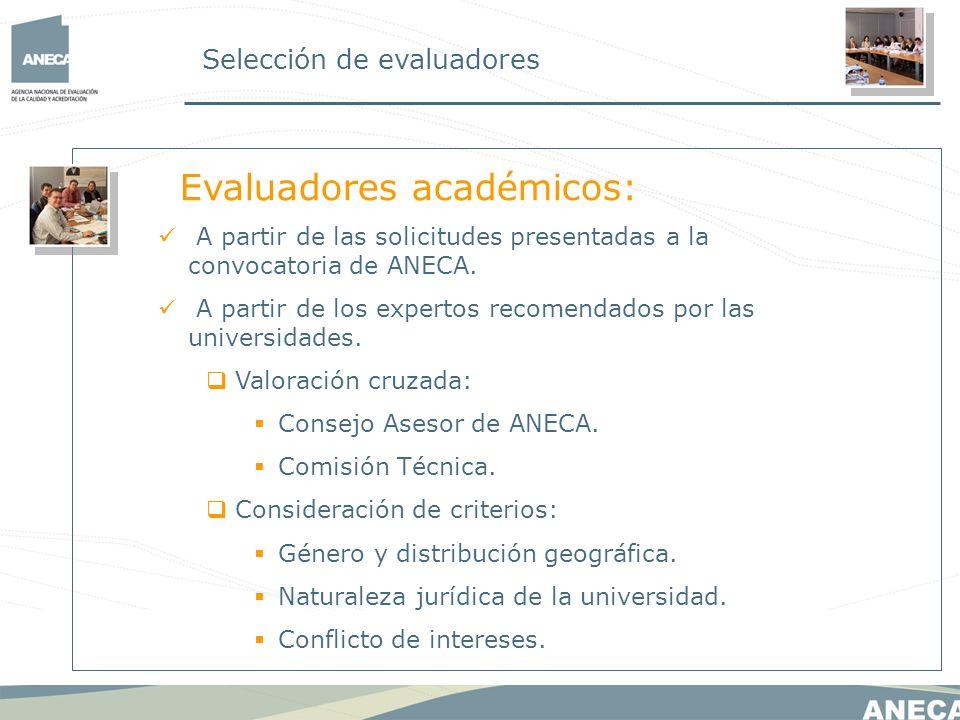 Evaluadores académicos: