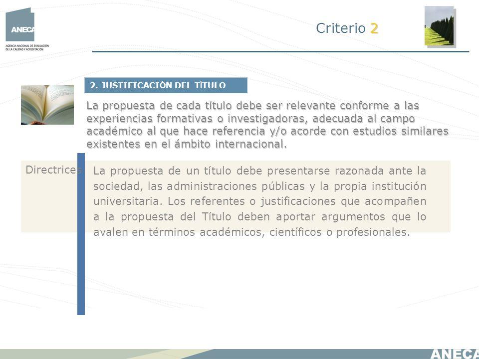 Criterio 22. JUSTIFICACIÓN DEL TÍTULO.