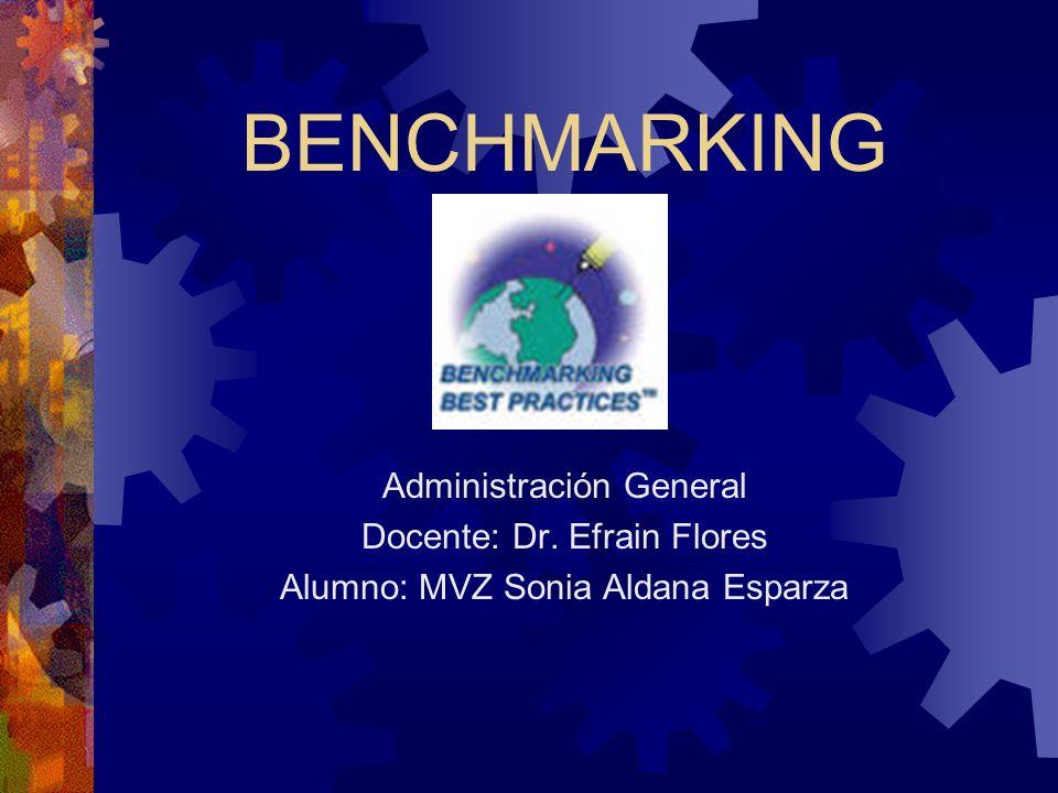 BENCHMARKING Administración General Docente: Dr. Efrain Flores