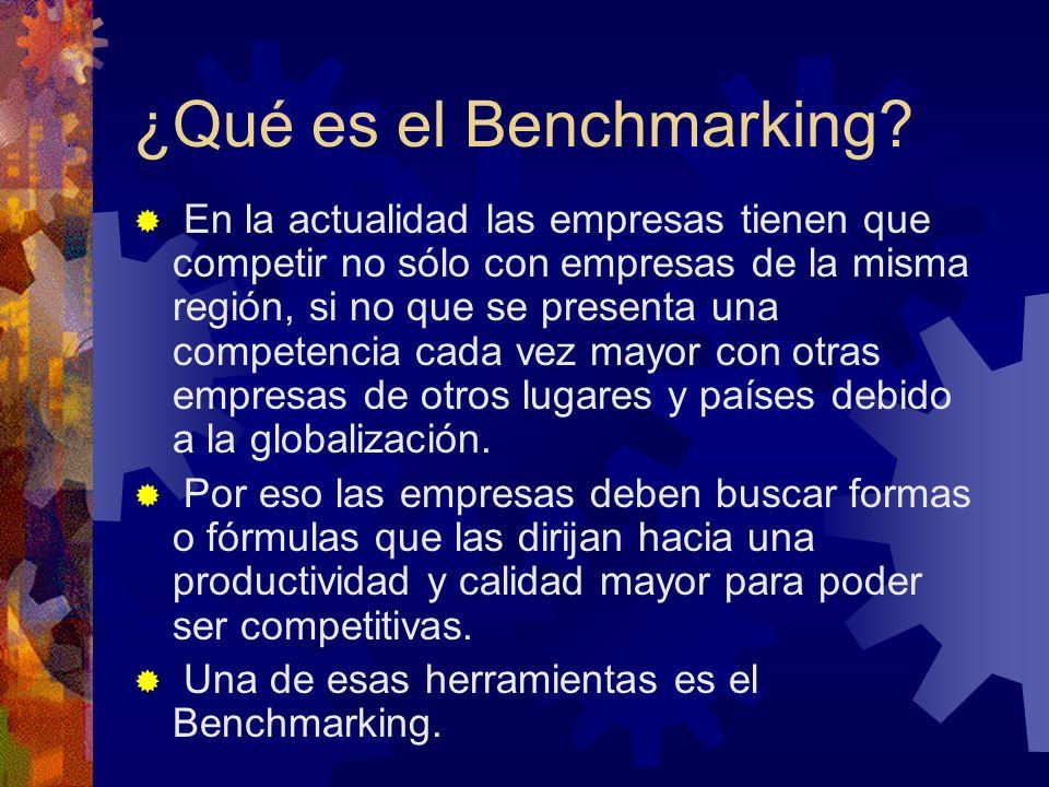 ¿Qué es el Benchmarking