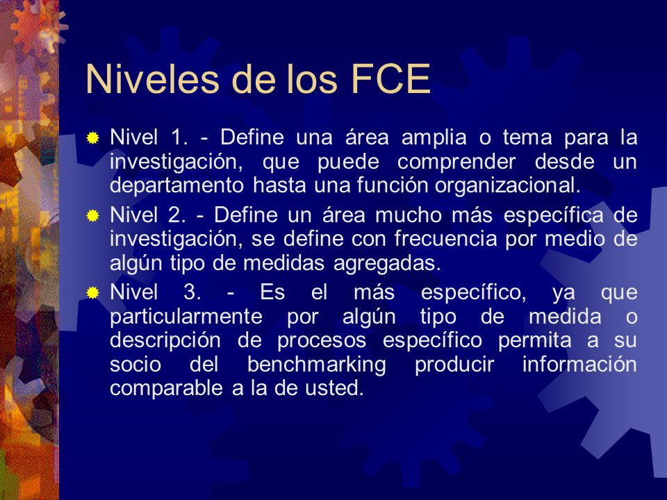 Niveles de los FCE