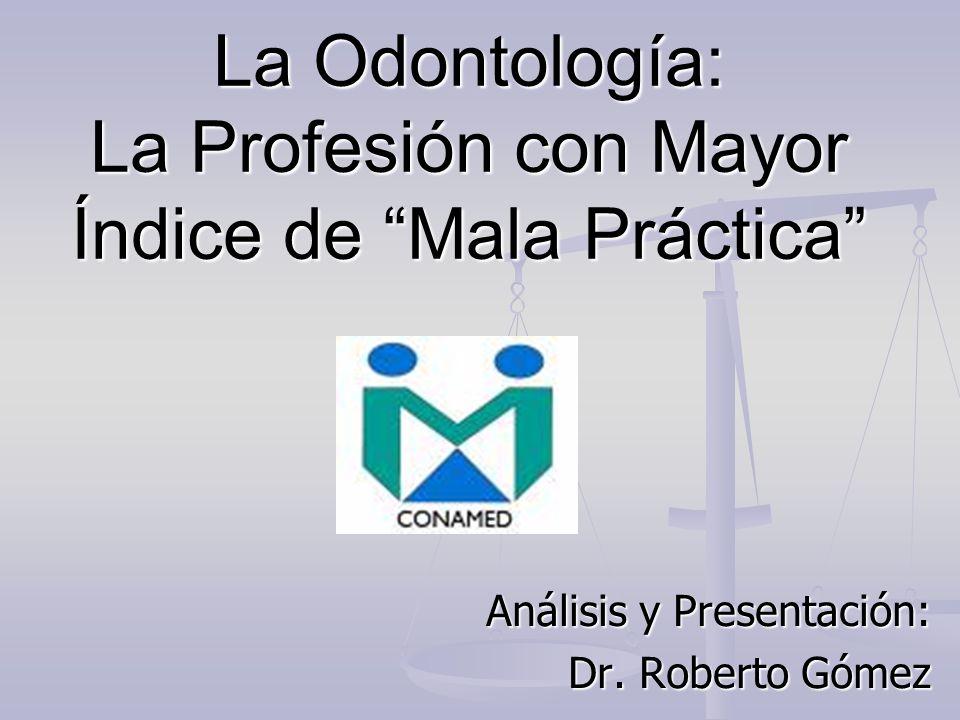 La Odontología: La Profesión con Mayor Índice de Mala Práctica
