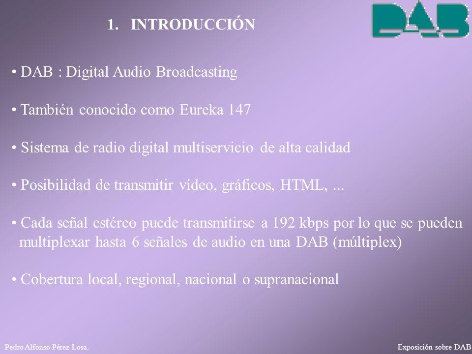 DAB : Digital Audio Broadcasting También conocido como Eureka 147