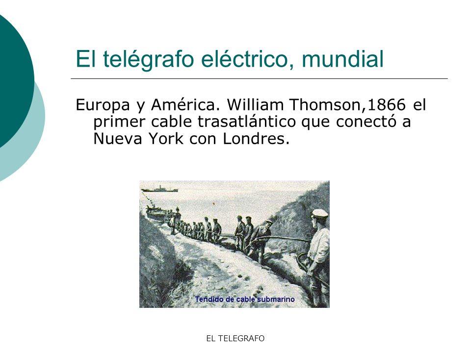 El telégrafo eléctrico, mundial