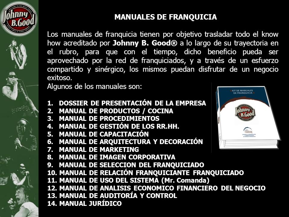 Johnny b good concepto de negocio ppt descargar for Manual de procedimientos de cocina