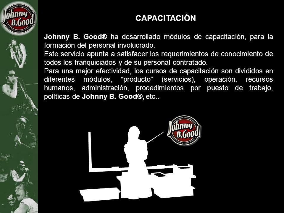 CAPACITACIÓN Johnny B. Good® ha desarrollado módulos de capacitación, para la formación del personal involucrado.