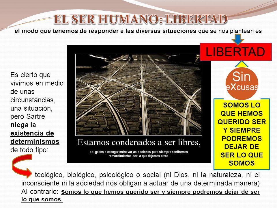 EL SER HUMANO: LIBERTAD