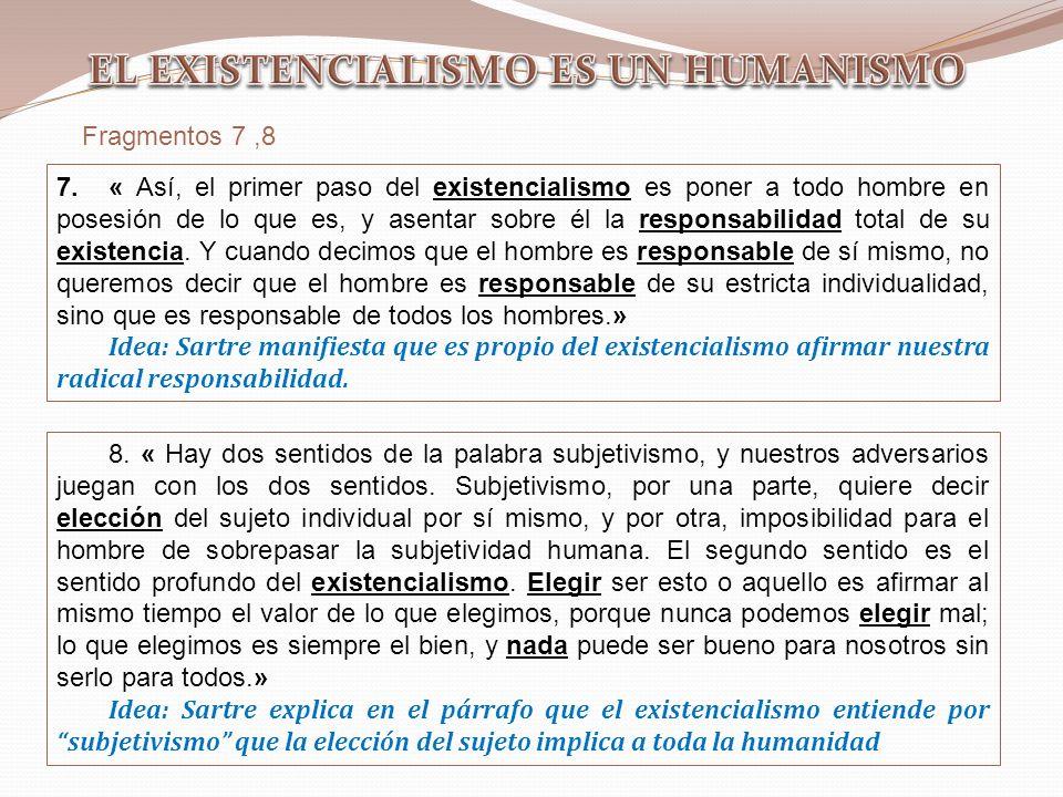 EL EXISTENCIALISMO ES UN HUMANISMO