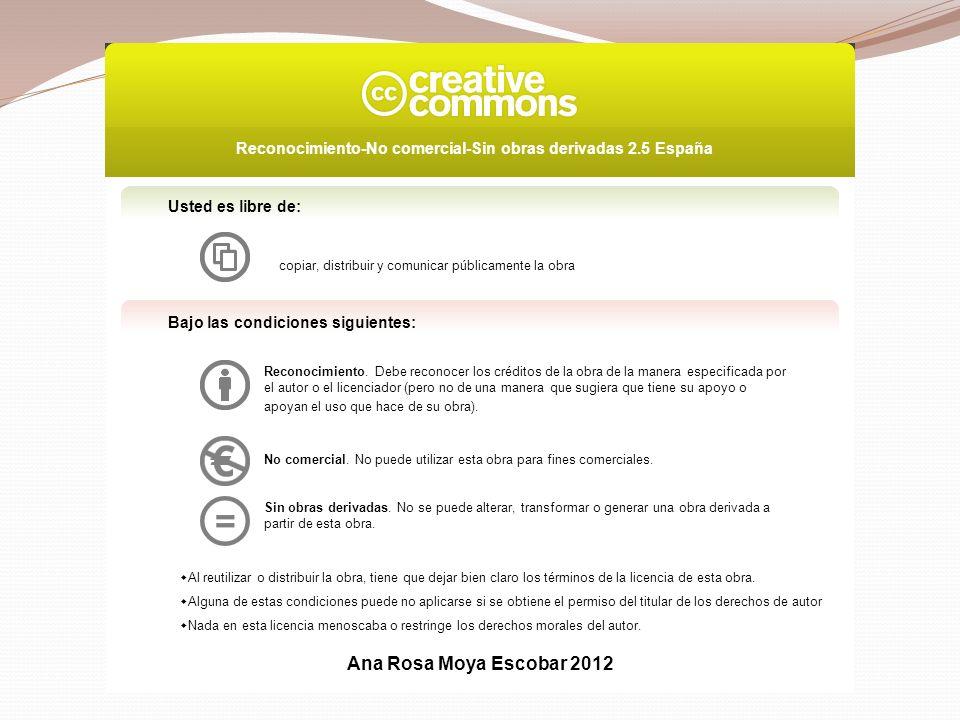 Usted es libre de:copiar, distribuir y comunicar públicamente la obra. Bajo las condiciones siguientes:
