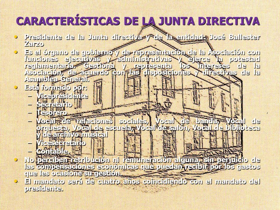 CARACTERÍSTICAS DE LA JUNTA DIRECTIVA