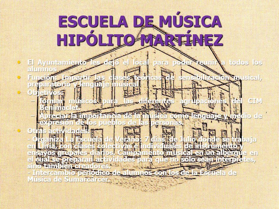 ESCUELA DE MÚSICA HIPÓLITO MARTÍNEZ