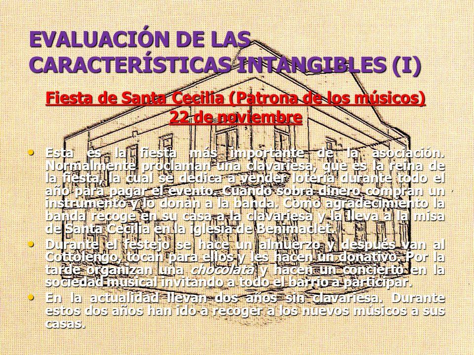 EVALUACIÓN DE LAS CARACTERÍSTICAS INTANGIBLES (I)