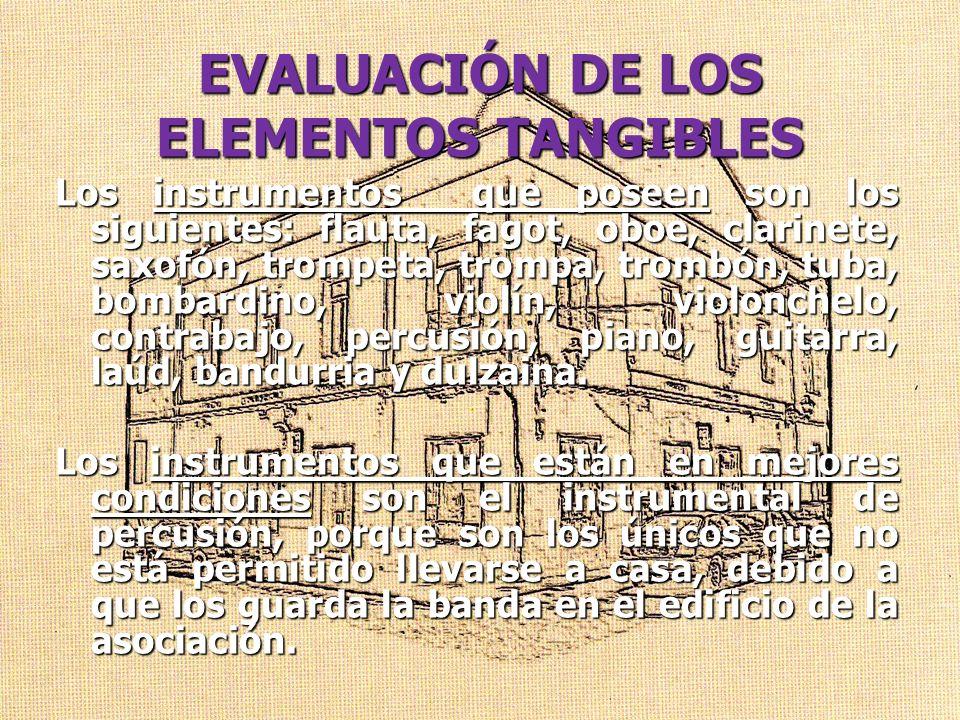 EVALUACIÓN DE LOS ELEMENTOS TANGIBLES