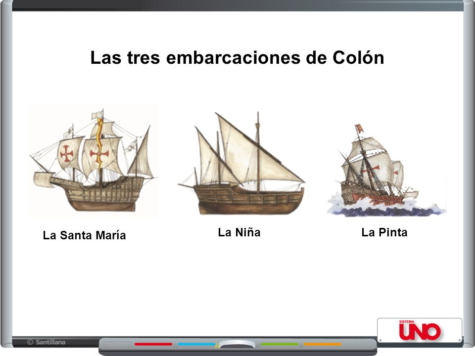 Las tres embarcaciones de Colón