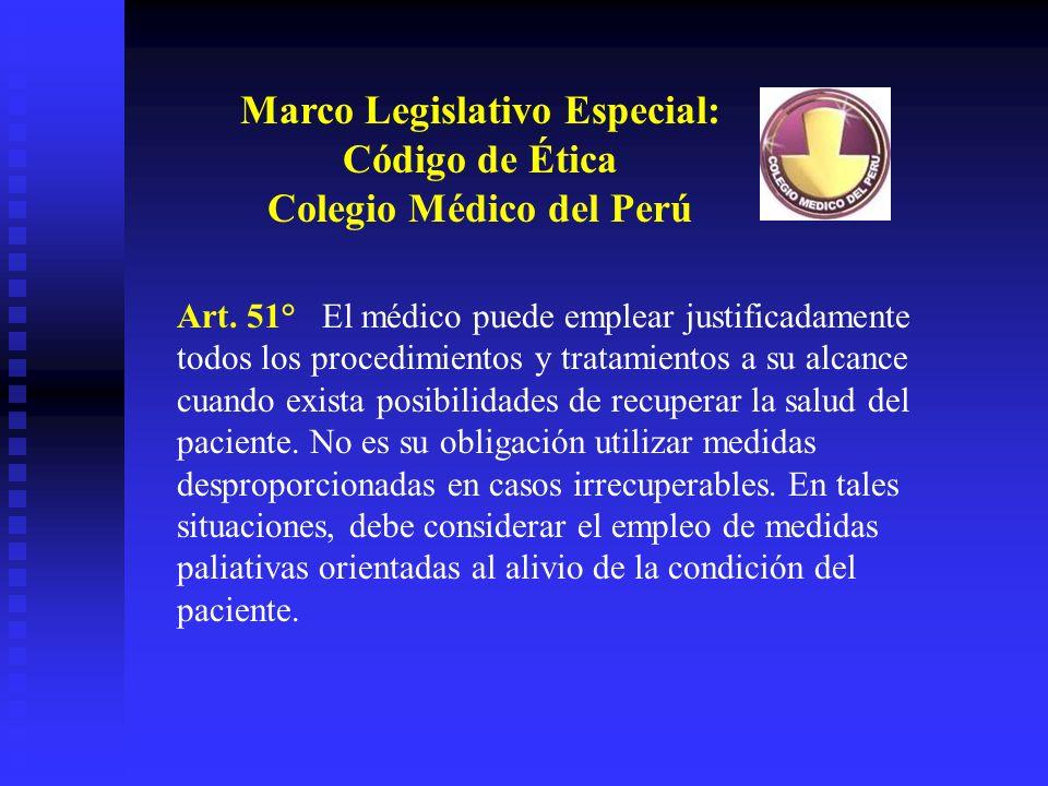 Marco Legislativo Especial: Colegio Médico del Perú