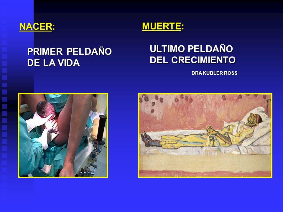 NACER: PRIMER PELDAÑO. DE LA VIDA. MUERTE: ULTIMO PELDAÑO.