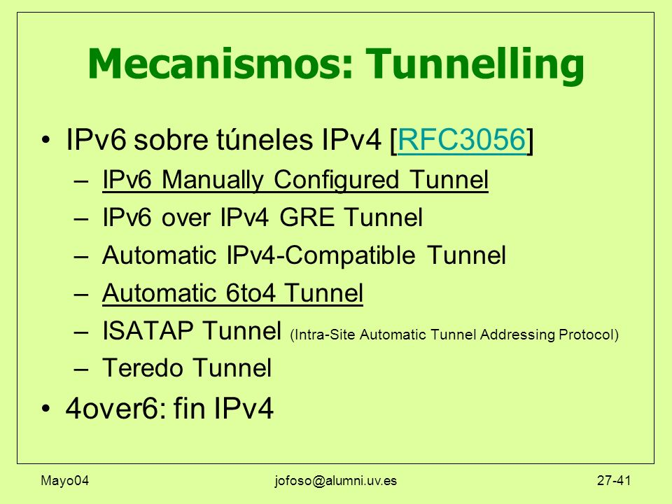 Mecanismos: Tunnelling