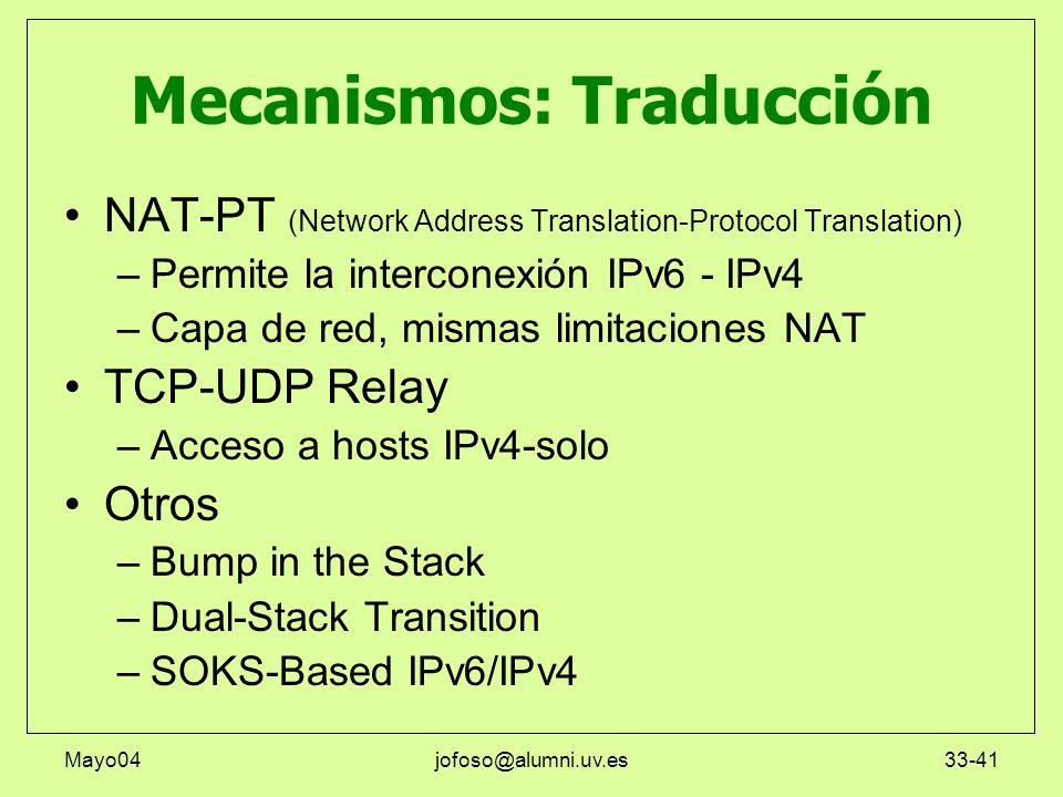 Mecanismos: Traducción