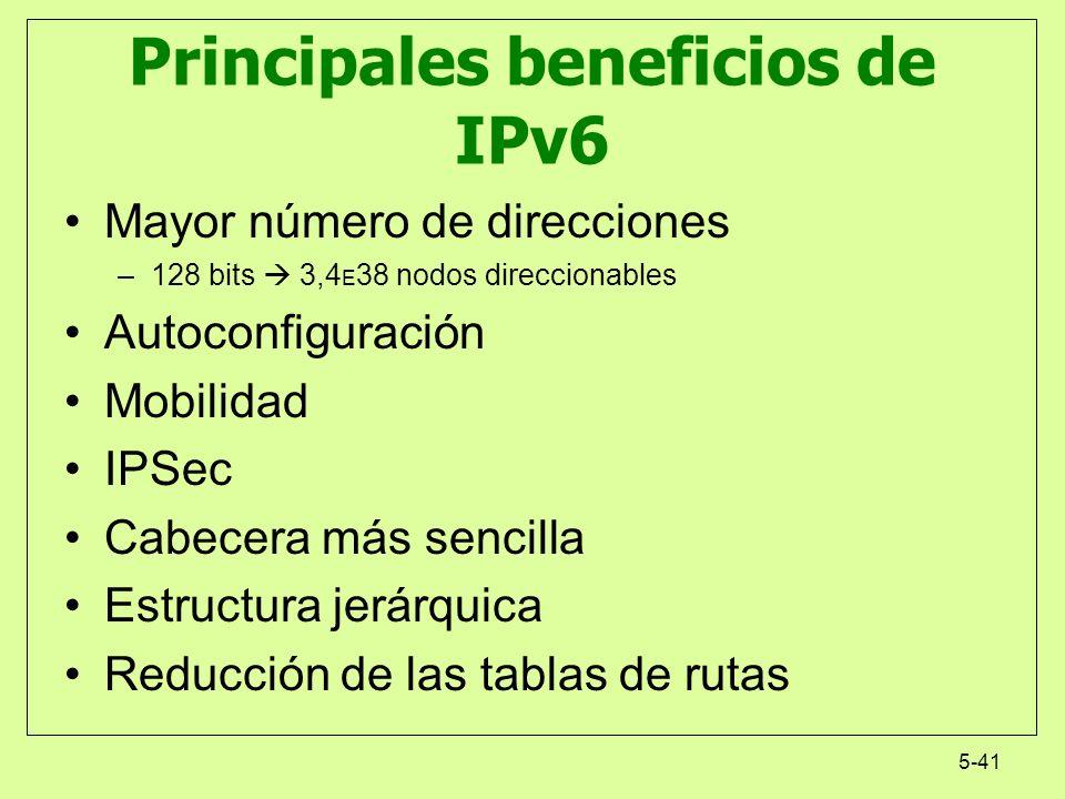Principales beneficios de IPv6