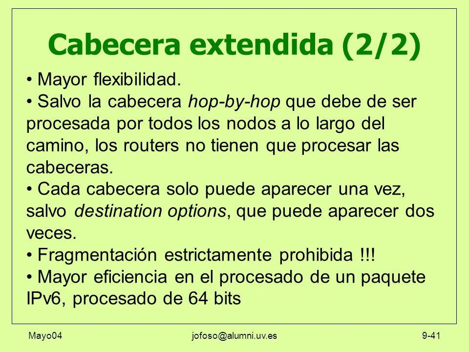 Cabecera extendida (2/2)