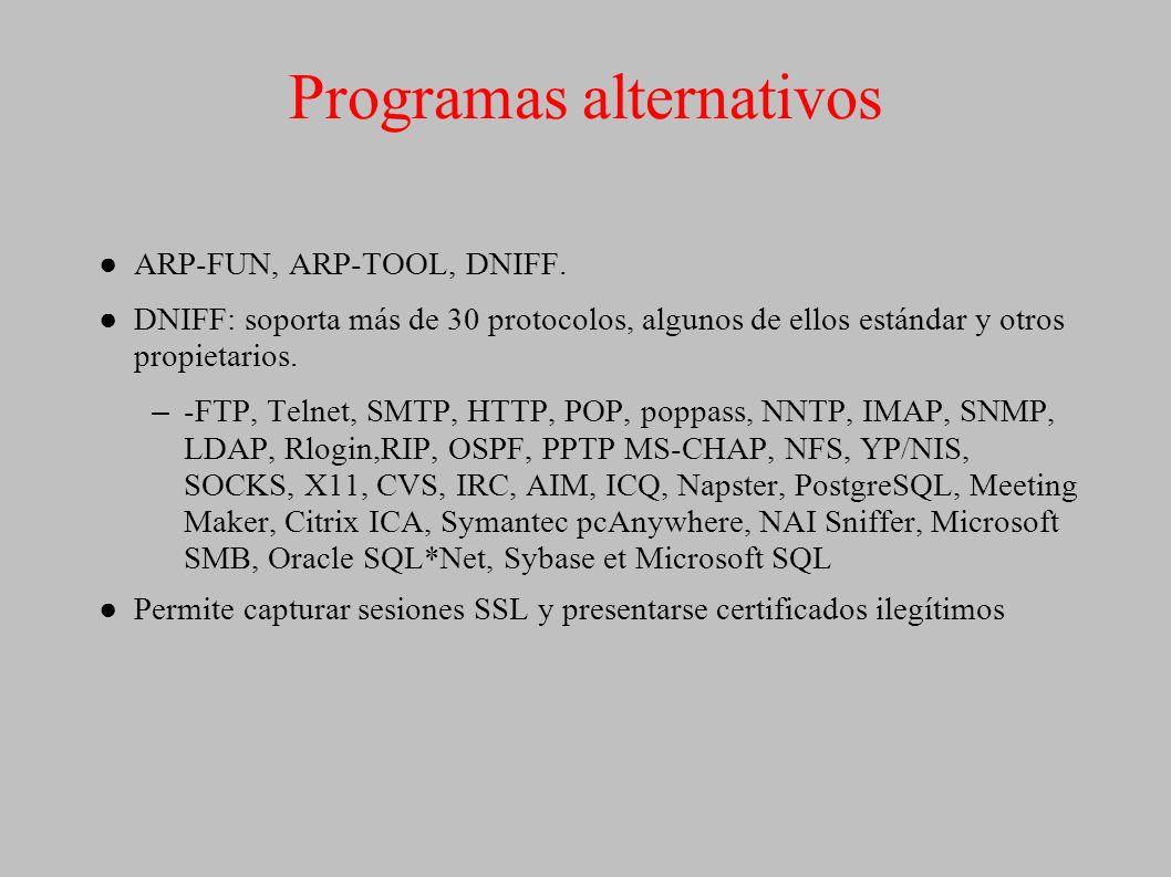 Programas alternativos