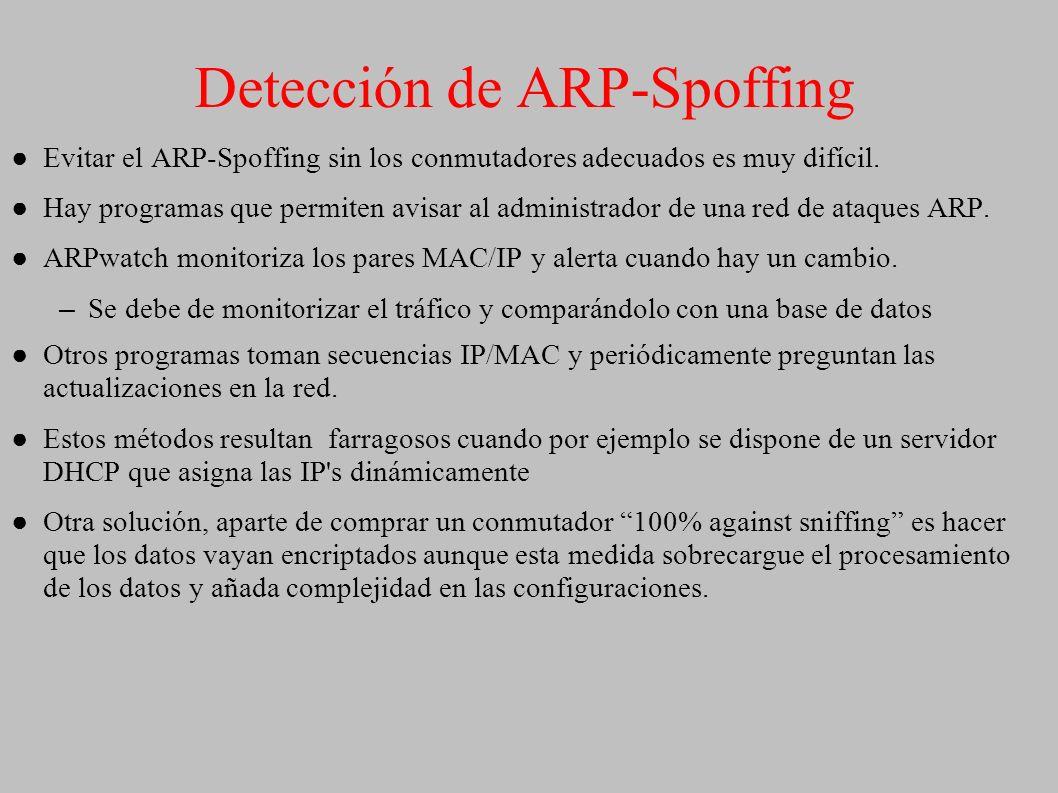 Detección de ARP-Spoffing