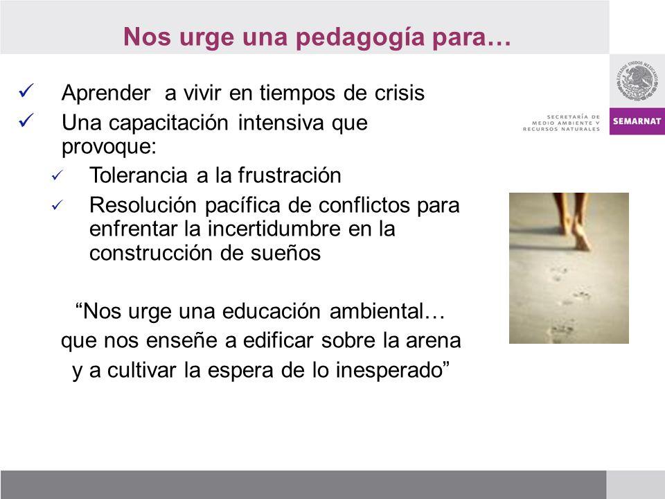 Nos urge una pedagogía para…