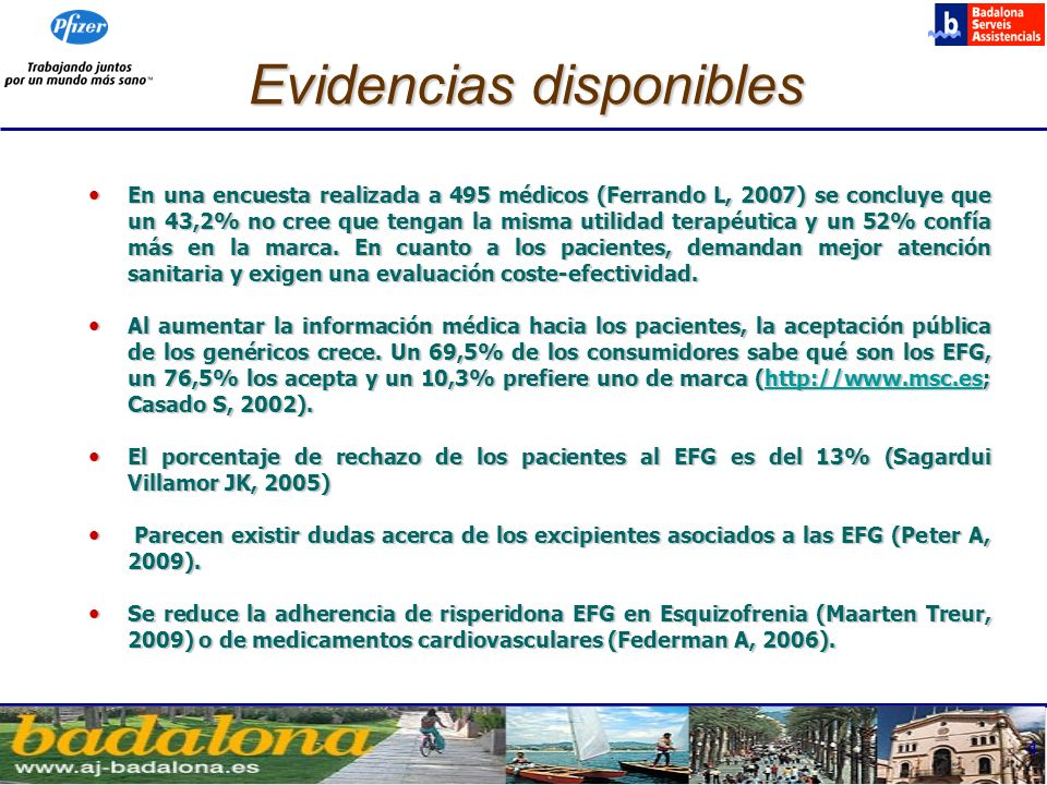 Evidencias disponibles