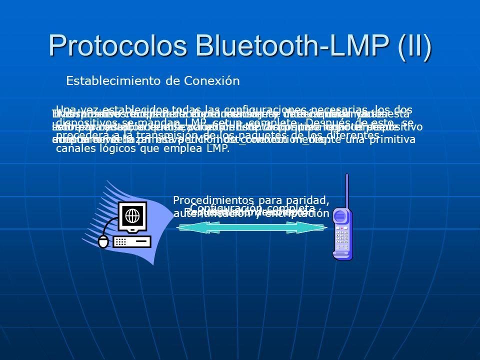 Protocolos Bluetooth-LMP (II)