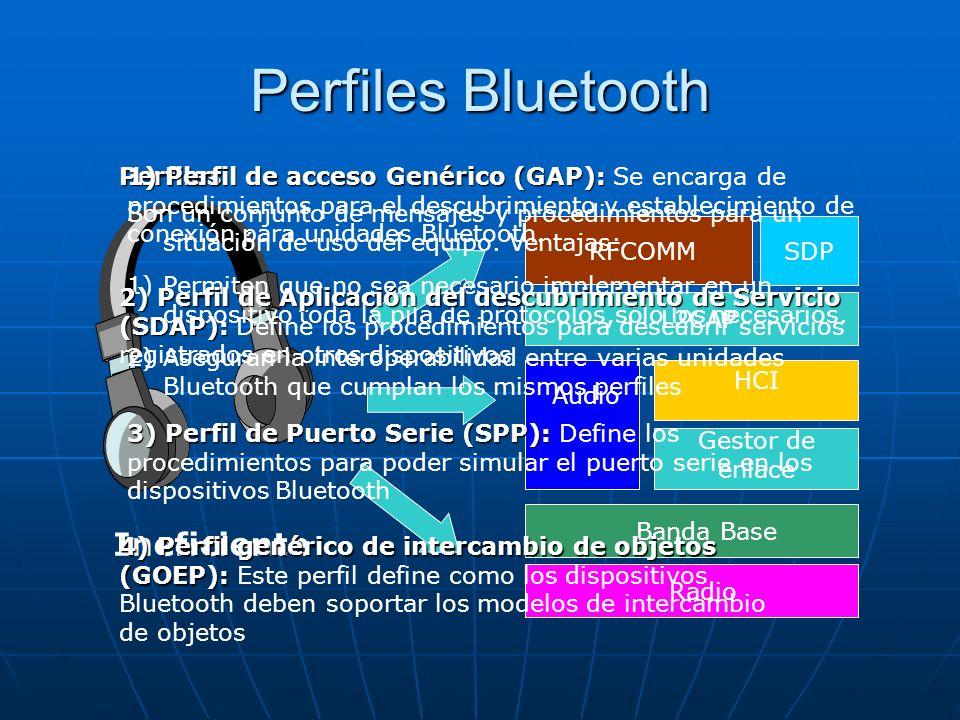 Perfiles Bluetooth Ineficiente Perfiles