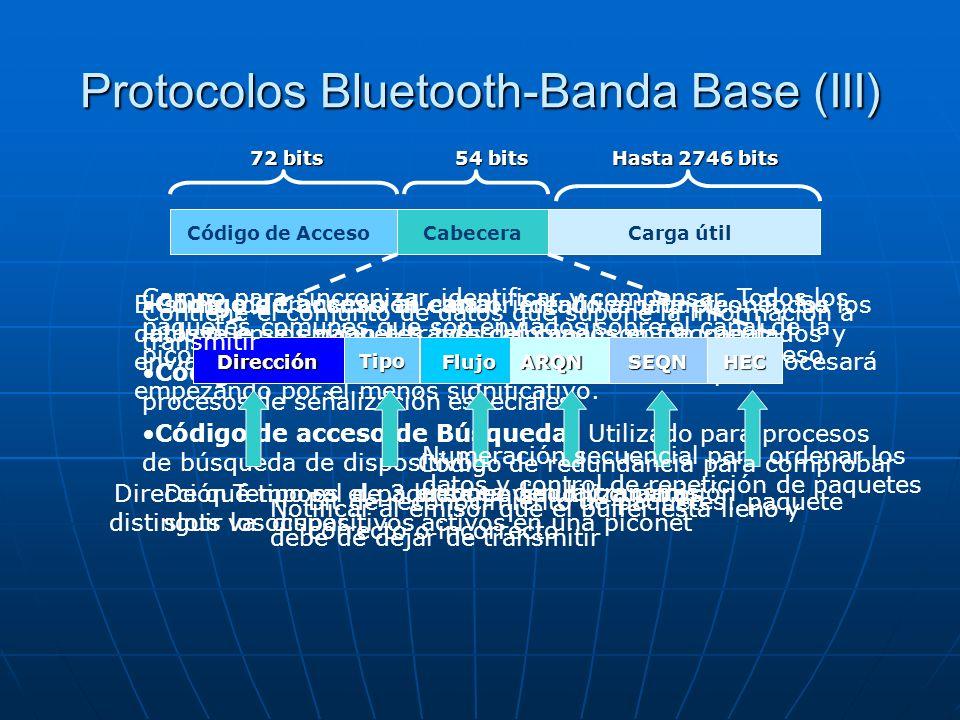 Protocolos Bluetooth-Banda Base (III)
