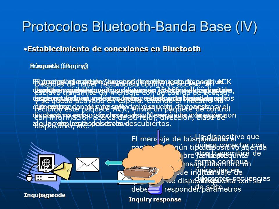 Protocolos Bluetooth-Banda Base (IV)