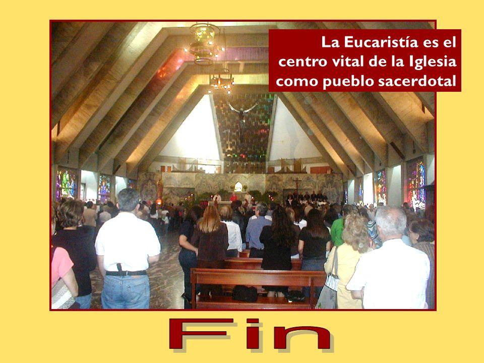La Eucaristía es el centro vital de la Iglesia como pueblo sacerdotal