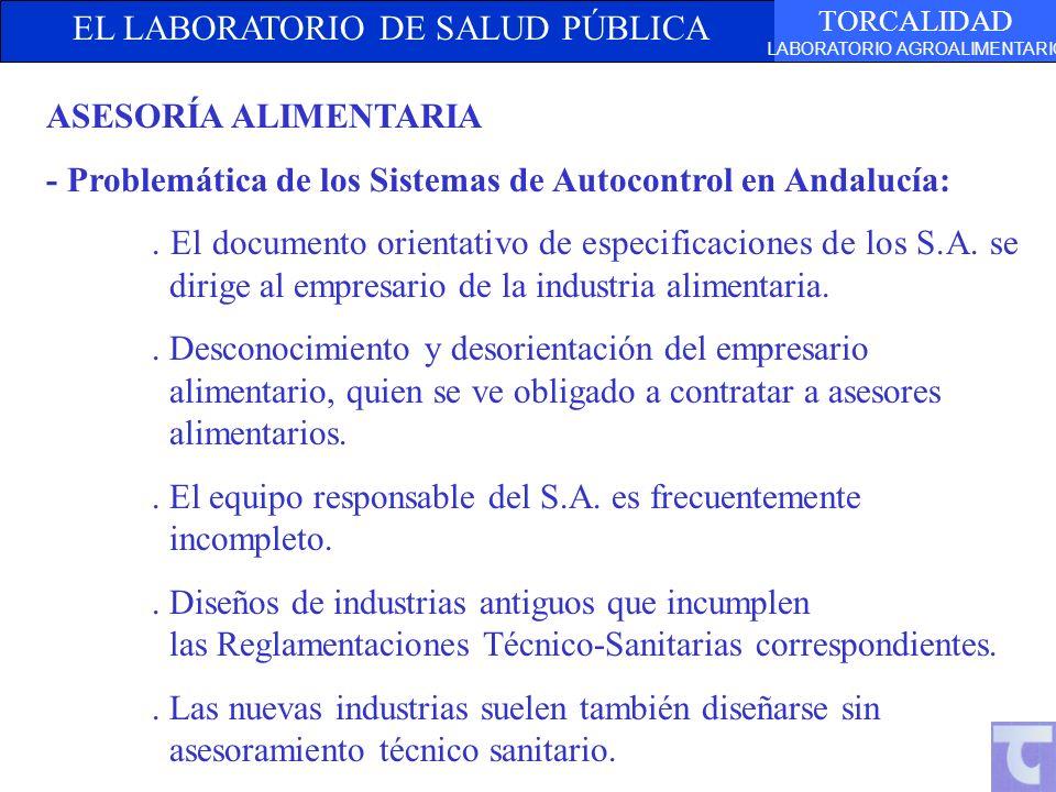 ASESORÍA ALIMENTARIA - Problemática de los Sistemas de Autocontrol en Andalucía: