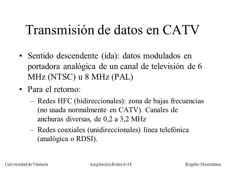 Transmisión de datos en CATV