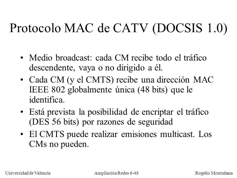 Protocolo MAC de CATV (DOCSIS 1.0)