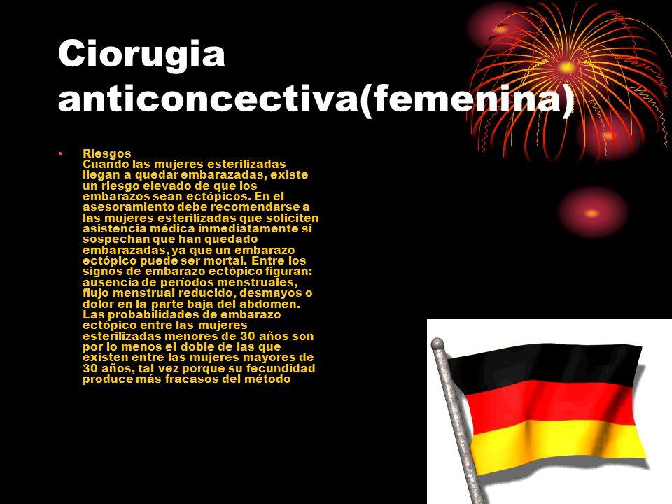 Ciorugia anticoncectiva(femenina)