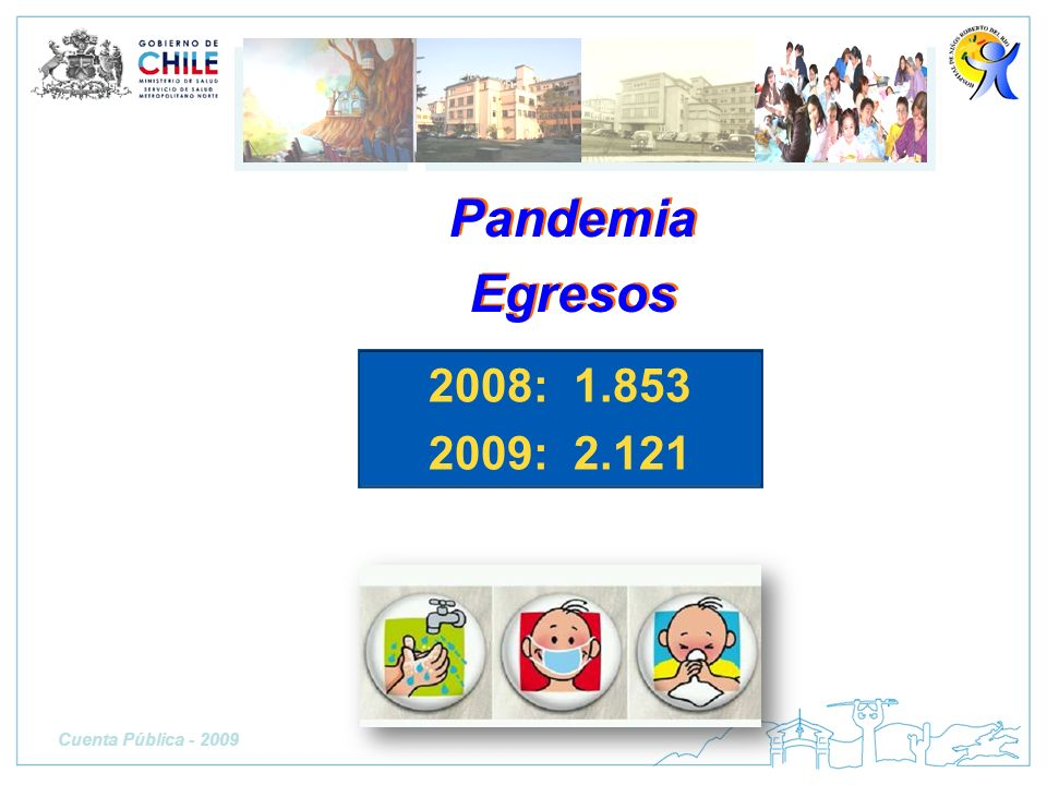 Pandemia Egresos 2008: 1.853 2009: 2.121 Cuenta Pública - 2009