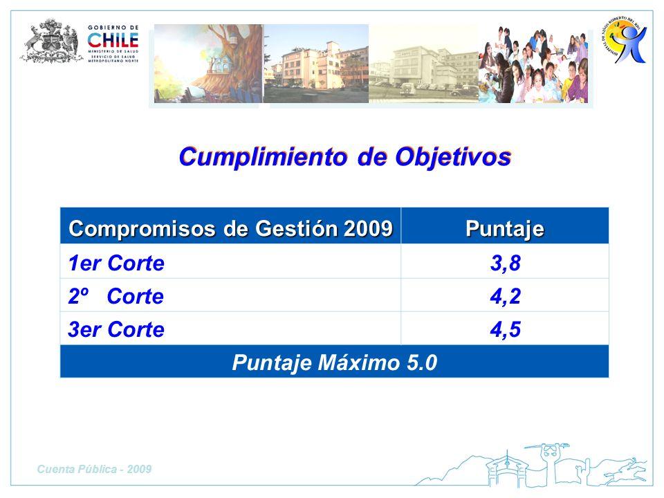 Cumplimiento de Objetivos Compromisos de Gestión 2009
