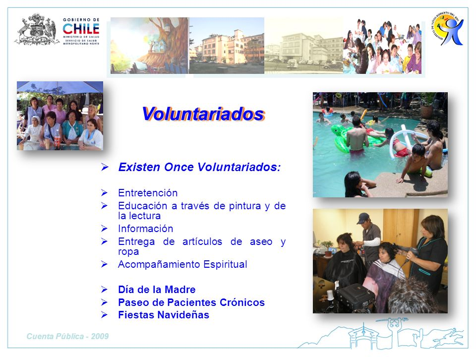 Voluntariados Existen Once Voluntariados: Entretención
