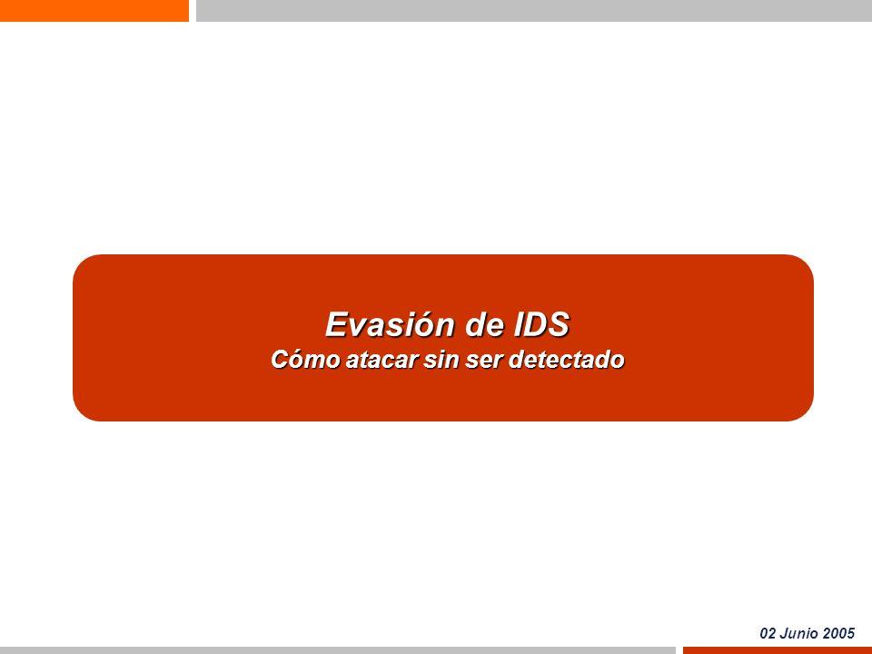 Evasión de IDS Cómo atacar sin ser detectado