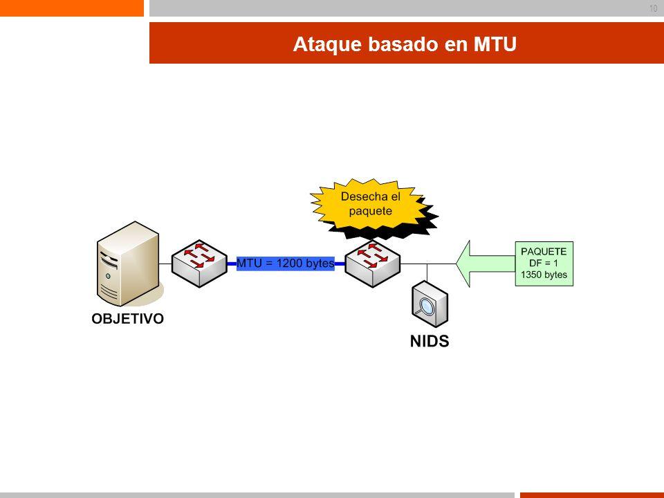 Ataque basado en MTU