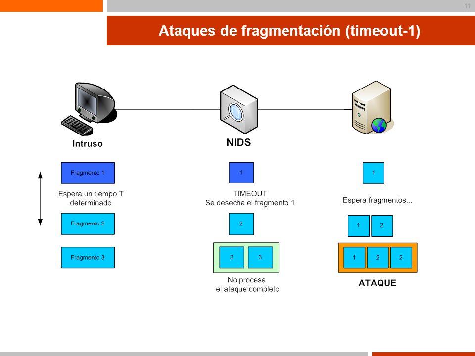 Ataques de fragmentación (timeout-1)